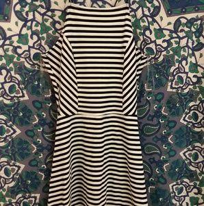 Love Tree ❤ Black and White Stripe Skater Dress